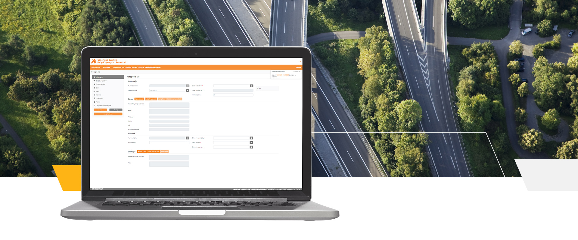 The software supporting GDDKiA with issuing permissions for transit of the off-specification transport