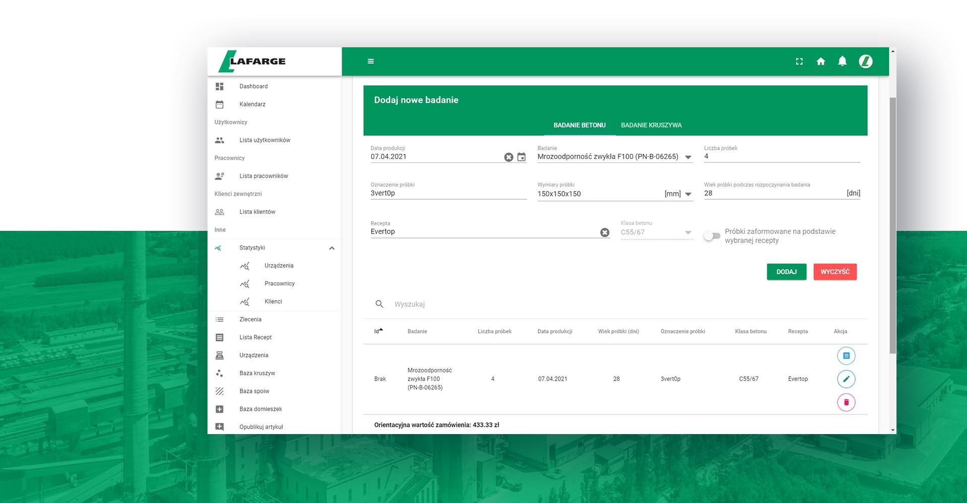 LIMS - Laboratory Information Management System.